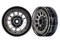 "Traxxas Wheels, Method 105 1.9"" (black chrome, beadlock) (beadlock rings sold separately)"