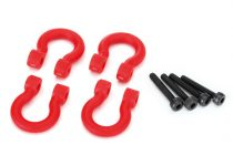 Traxxas Bumper D-rings, red (front or rear)/ 2.0x12 CS (4)