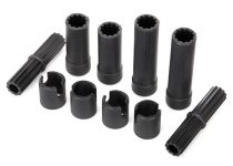Traxxas Half shafts, center (internal splined, front (2) & internal splined, rear (2)/ external splined (2)/ pin retainer (4)) (plastic parts only)