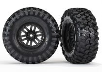Traxxas Tires and wheels, assembled, glued (TRX-4® wheels, Canyon Trail 1.9 tires) (2)