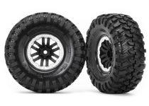 Traxxas Tires and wheels, assembled, glued (TRX-4® satin beadlock wheels, Canyon Trail 1.9 tires) (2)
