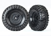 Traxxas Tires and wheels, assembled, glued (Tactical wheels, Canyon Trail 1.9 tires) (2)