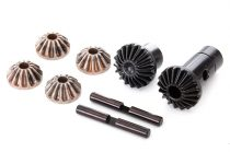 Traxxas Gear set, differential (output gears (2), spider gears (4), spider gear shaft (2))
