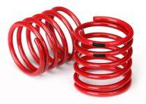 Traxxas Spring, shock (red) (4.4 rate, black stripe) (2)