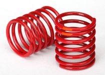 Traxxas Spring, shock (red) (3.325 rate, orange stripe) (2)