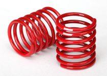 Traxxas Spring, shock (red) (2.8 rate, white stripe) (2)