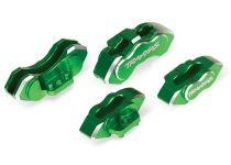 Traxxas Brake calipers, 6061-T6 aluminum (green-anodized), front (2)/ rear (2)