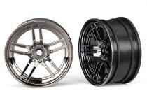 "Traxxas Wheels, 1.9"" split-spoke (black chrome) (front) (2)"