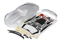 Traxxas Body, Chevrolet Corvette Z06 (clear, requires painting)/ decal sheet (includes side mirrors, spoiler, & mounting hardware)