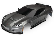 Traxxas Body, Chevrolet Corvette Z06, graphite (painted, decals applied)