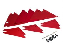 Traxxas Tube chassis, inner panels, aluminum (red-anodized) (front (2)/ wheel well (4)/ middle (4)/ rear (2))