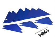 Traxxas Tube chassis, inner panels, aluminum (blue-anodized) (front (2)/ wheel well (4)/ middle (4)/ rear (2))