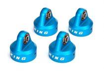 Traxxas Shock caps, aluminum (blue-anodized), King® Shocks (4)