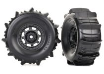 Traxxas Tires and wheels, assembled, glued (Desert Racer® wheels, paddle tires, foam inserts) (2)