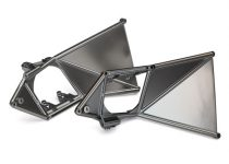 Traxxas  Mounts, suspension arm, upper (front) (left & right) (satin black chrome-plated)