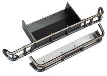 Traxxas Bumper, rear/ bumper extension (satin black chrome-plated)