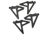 Traxxas Shock mounts, rear (left & right) (satin black chrome-plated)