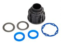 Traxxas Carrier, differential (front or center)/ x-ring gaskets (2)/ ring gear gasket/ 14.5x20 TW (2)