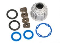Traxxas Carrier, differential, aluminum (front or center)/ x-ring gaskets (2), ring gear gasket/ 14.5x20 TW (2)