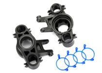 Traxxas Axle carriers, left & right (1 each) (use with 8x16mm & 17x26mm ball bearings)/ dust boot retainers (4)