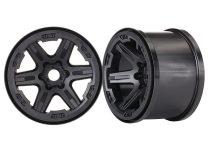 """Traxxas Wheels, 3.8"""" (black) (2) (17mm splined)"""