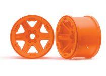 """Traxxas Wheels, 3.8"""" (orange) (2) (17mm splined)"""