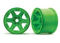 """Traxxas Wheels, 3.8"""" (green) (2) (17mm splined)"""