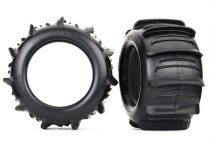 """Traxxas Tires, paddle 3.8"""" (2)/ foam inserts (2)"""