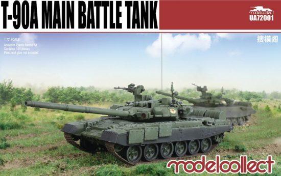 Modelcollect T-90A Main Battle Tank (welded turret) makett