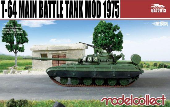 Modelcollect T-64 main battle tank model 1975 makett