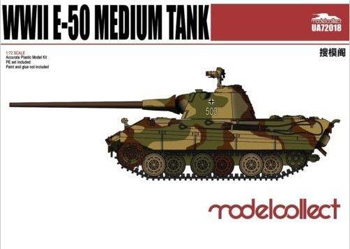 Modelcollect Germany E-50 Medium Tank with 88Gun makett