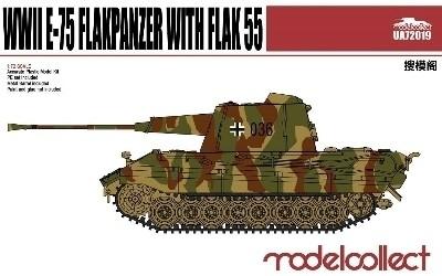 Modelcollect Germany E-75 Flakpanzer with Flak55 makett