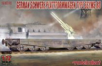 Modelcollect Germany Schwerer plattformwagen type ssyms 80 makett