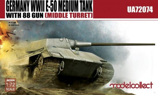 Modelcollect Germany E-50 Medium Tank with 88 Gun makett