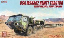 Modelcollect USA M983A2 HEMTT Tractor & M870A1 Semi-trailer makett