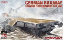 Modelcollect German Railway Schwerer Plattformwagen Type ssys 1+1 pack makett
