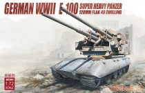 Modelcollect Germany E-100 super heavy panzer with 128mm flak 40 zwilling makett