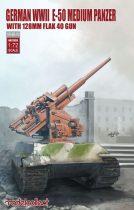 Modelcollect E-50 medium panzer with 128mm flak 40 gun makett