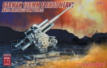 Modelcollect German 128mm Flak40 heavy Anti-Aircraft Gun Type 2 makett