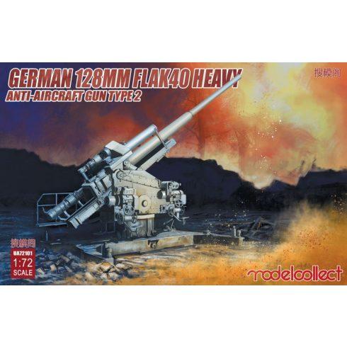 Modelcollect German 128mm Flak40 heavy Anti-Aircraft Gun Type 2 makett