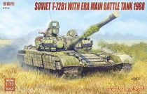 Modelcollect Soviet T-72B1 with ERA main battle tank 1988 makett