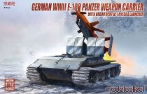 Modelcollect E-100 panzer weapon carrier with Rheintochter 1 makett
