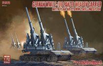Modelcollect E-100 panzer weapon carrier with FLAK 40 128MM ZWILLINGSFLAK makett