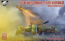 Modelcollect Fist of War German E75 Ausf.vierfubler Rheintochter 1 makett