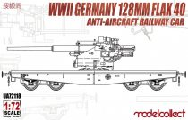 Modelcollect Germany 128mm Flak 40 Anti-Aircraft Railway Car makett