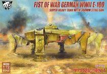 Modelcollect Fist of War German E-100 Super Heavy Tank with 380mm stug gun makett