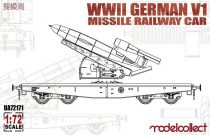 Modelcollect Germany V1 Missile Railway Car makett