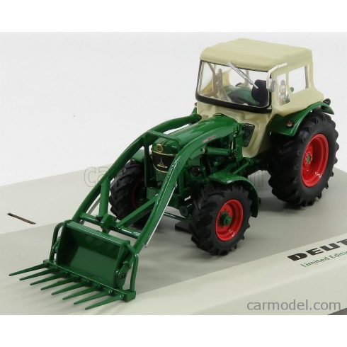 UNIVERSAL HOBBIES DEUTZ  D6005 4WD TRACTOR CLOSED WITH FRONT LOADER 1965