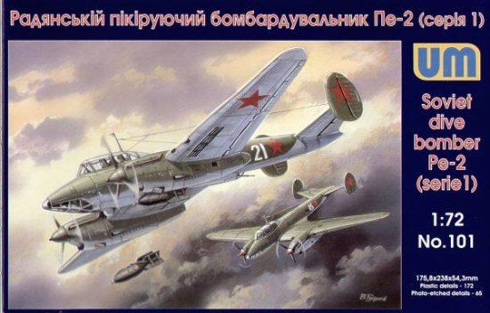 Unimodels Dive Bomber Pe-2 early makett