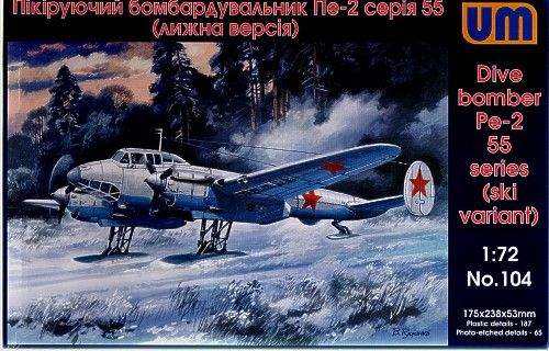 Unimodels Dive Bomber Pe-2 makett
